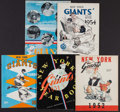 Baseball Collectibles:Publications, 1951-57 New York Giants Yearbooks Lot of 5....