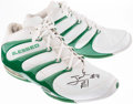 Basketball Collectibles:Others, 2004-06 Justin Reed Game Worn, Signed Boston Celtics Shoes....