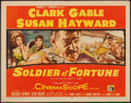 "Movie Posters:Adventure, Soldier of Fortune (20th Century Fox, 1955). Half Sheet (22"" X28""). Adventure.. ..."