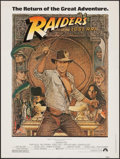 "Movie Posters:Adventure, Raiders of the Lost Ark (Paramount, R-1982). Poster (30"" X 40"").Adventure.. ..."