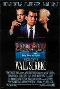 """Wall Street & Other Lot (20th Century Fox, 1987). One Sheets (2) (26.75"""" X 39.75"""" & 27"""" X 41""""..."""