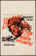 """Movie Posters:War, Action in the North Atlantic (Warner Brothers, 1943). Window Card(14"""" X 22""""). War.. ..."""