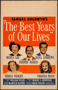 "The Best Years of Our Lives (RKO, 1946). Window Card (14"" X 22""). Drama"