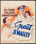 "Movie Posters:Crime, The Great O'Malley (Warner Brothers, 1937). Trimmed Window Card (14"" X 17""). Crime.. ..."