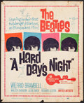 "Movie Posters:Rock and Roll, A Hard Day's Night (United Artists, 1964). Trimmed Window Card (14""X 17""). Rock and Roll.. ..."
