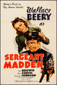 "Sergeant Madden (MGM, 1939). One Sheet (27"" X 41"") Style C. Crime"