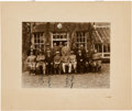Golf Collectibles:Autographs, 1929 British Open Multi-Signed Photograph with Vardon, Braid,Hagen....