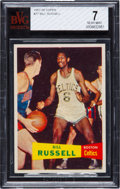 Basketball Cards:Singles (Pre-1970), 1957 Topps Bill Russell #77 BVG NM 7. ...