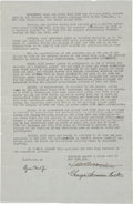 Baseball Collectibles:Others, 1930 Babe Ruth Signed New York Yankees Contract Addendum....