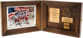 Olympic Collectibles:Autographs, 1983 Dave Christian United States Olympic Hall of Fame Award. ...