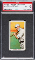 Baseball Cards:Singles (Pre-1930), 1909-11 T206 Sweet Caporal Whitey Alperman, Factory 649 OverprintPSA NM-MT 8 - Highest Confirmed Example!...