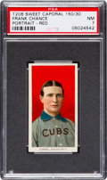 Baseball Cards:Singles (Pre-1930), 1909-11 T206 Sweet Caporal Frank Chance, Portrait Red PSA NM 7 - Factory 42 Overprint....