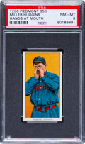 Baseball Cards:Singles (Pre-1930), 1909-11 T206 Piedmont Miller Huggins, Hands At Mouth PSA NM-MT8....