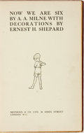 Books:Children's Books, A. A. Milne. Now We Are Six. London. London: Methuen,[1927]....