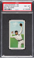 Baseball Cards:Singles (Pre-1930), 1909-11 T206 Piedmont George McQuillan, Ball In Hand PSA NM-MT 8 -None Higher! ...