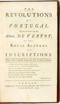Books:World History, [Featured Lot]. Abbot de Vertot. The Revolutions of Portugal... London: W. Taylor, 1724. ...