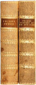 Books:Literature Pre-1900, Matthew Prior. The History of His Own Time. Compiled from the Original Manuscripts of His Late Excellency. [together... (Total: 2 Items)