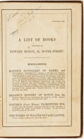 Books:Literature Pre-1900, [Alfred Lord Tennyson]. In Memoriam. London: Edward Moxon,1850. ...