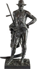 Bronze:European, After Hamo Thornycroft (British, 1850-1925). Reaper. Bronzewith brown patina. 22-1/2 inches (57.2 cm) high. Inscribed o...