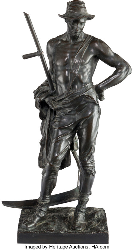After Hamo Thornycroft (British, 1850-1925)ReaperBronze with brown patina22-1/2 inches (57.2 cm) highInscribed o...