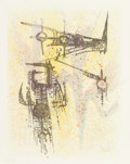 Prints, Wifredo Lam (Cuban, 1902-1982). Untitled, from the Flight portfolio, 1971. Lithograph in colors on paper. 25-3/4 x 1...