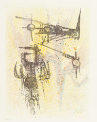 Wifredo Lam (Cuban, 1902-1982) Untitled, from the Flight portfolio, 1971 Lithograph in co