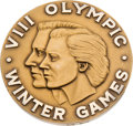 Hockey Collectibles:Others, 1960 U.S. Hockey Olympic Gold Medal Presented to Bill Christian....
