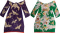 Asian:Japanese, Two Japanese Embroidered Kimonos, 20th century. 72 inches high x 52inches wide (182.9 x 132.1 cm) (flat). ... (Total: 2 Items)