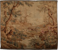 Decorative Arts, Continental:Other , A Flemish Baroque-Style Hunting Tapestry, 18th century. 103-1/2inches high x 119 inches wide (262.9 x 302.3 cm). ...