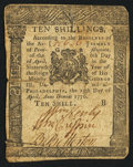 Colonial Notes:Pennsylvania, Pennsylvania April 25, 1776 10s Very Good-Fine.. ...