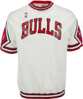 Basketball Collectibles:Uniforms, 1987-88 Michael Jordan Game Worn Chicago Bulls Shooting Shirt. ...