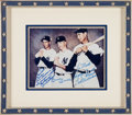 Baseball Collectibles:Photos, 1990's Mickey Mantle, Joe DiMaggio & Ted Williams Multi SignedPhotograph Inscribed to Mantle from The Mickey Mantle Auction o...