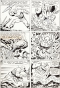 Original Comic Art:Panel Pages, Jack Kirby and George Tuska Tales of Suspense #73 Story Page2 Captain America Original Art (Marvel, 1966)....