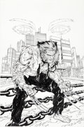 Original Comic Art:Covers, Steve McNiven and Jay Leisten Death of Wolverine #2 Cover Original Art (Marvel, 2014)....