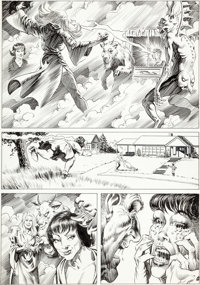 "Bernie Wrightson National Lampoon #1982-01 ""Bewitched"" Story Page Original Art (National Lampoon, 1982)"
