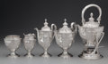 Silver Holloware, American:Tea Sets, A Five Piece Dominick & Haff Silver Tea & Coffee Service,New York, New York, circa 1915. Marks:(diamond-circle-rectangle),... (Total: 5 Items)