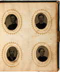Books:Photography, [Photography Pre-1900]. Small Album Containing Forty-Four Tintypes. Circa 1880....