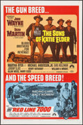 """Movie Posters:Western, The Sons of Katie Elder/Red Line 7000 Combo & Others Lot (Paramount, R-1968). One Sheet & Spanish Language One Sheet (27"""" X ... (Total: 4 Items)"""
