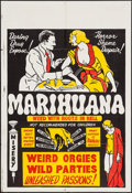 "Movie Posters:Exploitation, Marihuana (Roadshow Attractions, 1936). One Sheet (28"" X 42"").Exploitation.. ..."
