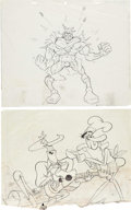 Animation Art:Concept Art, John Kricfalusi Spumco Animation Sketch Original Art Group of 4(undated).... (Total: 4 Items)