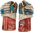 Olympic Collectibles:Autographs, 1960 Bill Christian Game Worn USA Olympic Hockey Team Gloves. ...