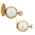 Timepieces:Pocket (post 1900), Two Elgin Hunter's Case Pocket Watches Runners. ... (Total: 2Items)