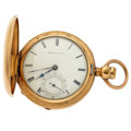 Timepieces:Pocket (post 1900), Waltham 21 Jewel Crescent St. Hunter's Case Pocket Watch. ...