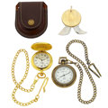 Timepieces:Other , Two Quartz Pocket Watches & One Watch Opener. ... (Total: 4Items)