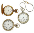 Timepieces:Pocket (post 1900), A Lot Of Three Pocket Watches For Parts Or Repair. ... (Total: 3Items)