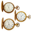 Timepieces:Pocket (post 1900), Three 18 Size Hunter's Case Pocket Watches. ... (Total: 3 Items)