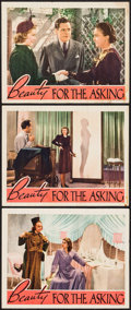"Movie Posters:Drama, Beauty for the Asking (RKO, 1939). Lobby Cards (3) (11"" X 14"").Drama.. ... (Total: 3 Items)"