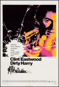 "Dirty Harry (Warner Brothers, 1971). One Sheet (27"" X 41.25""). Crime"