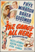 """Movie Posters:Musical, The Gang's All Here (20th Century Fox, 1943). One Sheet (27"""" X 41""""). Musical.. ..."""