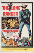 """Movie Posters:Western, The Lone Ranger and the Lost City of Gold (United Artists, 1958).One Sheet (27"""" X 41""""). Western.. ..."""